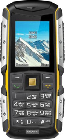 Мобильный телефон teXet TM-512R Black Yellow цена и фото