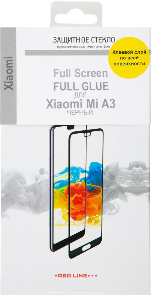 Стекло защитное RedLine Xiaomi Mi A3 2.5D черная рамка фото