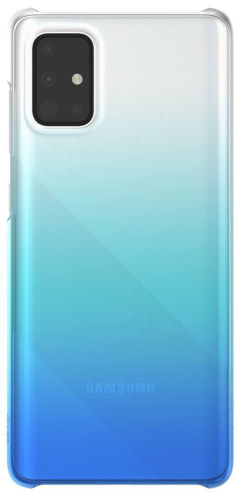 Клип-кейс WITS Samsung Galaxy A71 Gradation прозрачный Blue (GP-FPA715WSBLR) фото