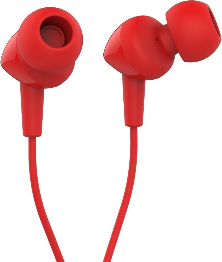Наушники с микрофоном JBL C100SI Red jbl наушники jbl c100si