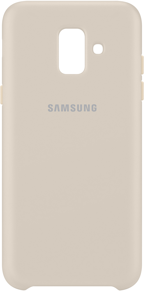 Клип-кейс Samsung Galaxy A6 Dual Layer Cover Gold (EF-PA600CFEGRU) клип кейс samsung galaxy j4 dual layer cover gold ef pj400cfegru