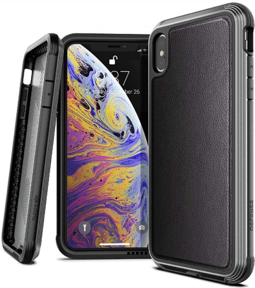 цена на Клип-кейс X-Doria iPhone XS Max противоударный кожа Black