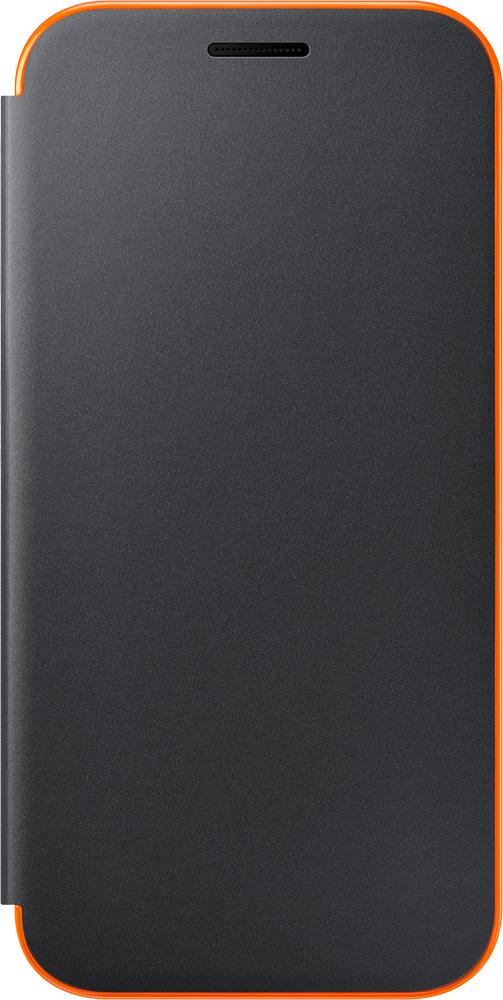 Чехол-книжка Samsung Samsung Galaxy A3 2017 Neon Flip Cover Black чехол samsung ef fa320ppegru для samsung galaxy a3 2017 neon flip cover розовый