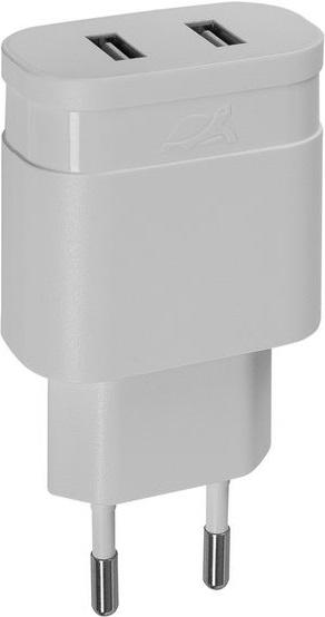 СЗУ Rivacase Rivapower 4122Wo 2 USB 2,4A универсальное White rivacase rivapower va 4222 wd1 2usb x 2 4a