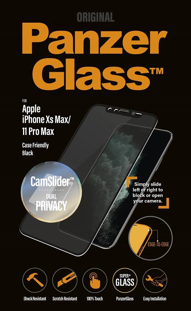 Стекло защитное PanzerGlass iPhone 11 Pro Max CamSlider Privacy черная рамка фото