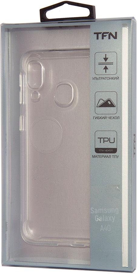 Клип-кейс TFN Samsung Galaxy A40 прозрачный клип кейс tfn samsung galaxy s10 plus прозрачный