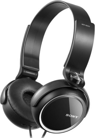 Наушники Sony MDR-XB250B Black sony mdr zx110ap black