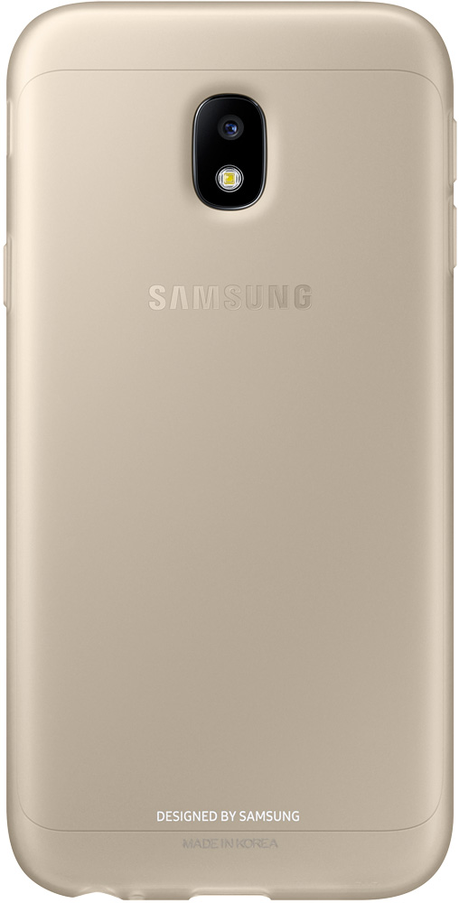 Клип-кейс Samsung Jelly Cover Galaxy J3 2017 Gold (EF-AJ330TFEGRU) смартфон samsung galaxy j3 2016 gold