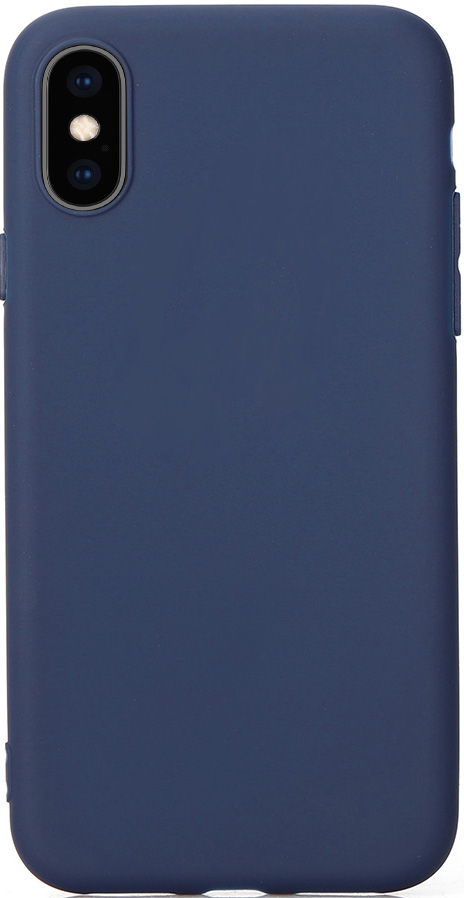 Клип-кейс Vili Apple iPhone XS TPU Blue клип кейс vili apple iphone xr tpu red