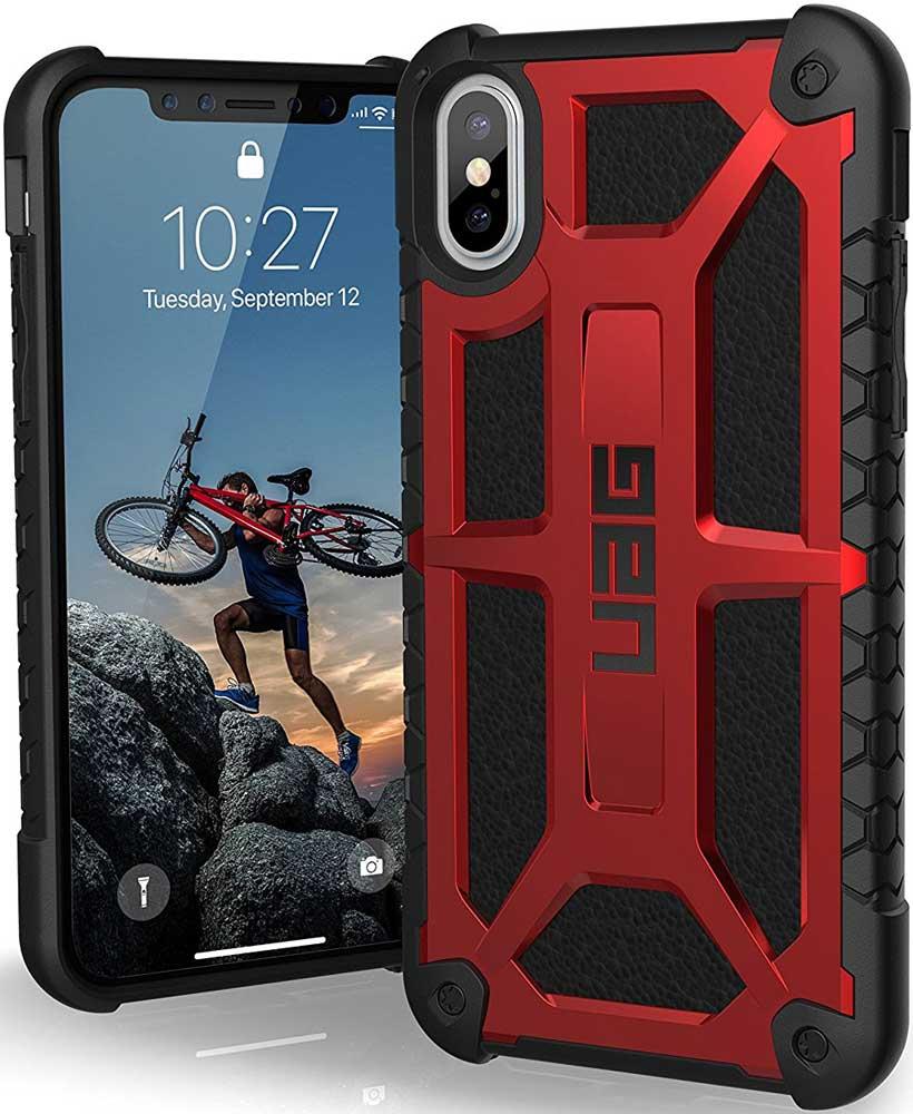 Клип-кейс UAG Monarch iPhone X Red цена и фото