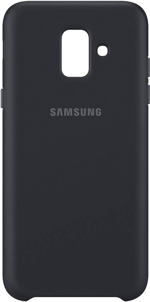 Клип-кейс Samsung Galaxy A6 Dual Layer Cover Black (EF-PA600CBEGRU) клип кейс samsung samsung galaxy j6 dual layer cover black ef pj600cbegru