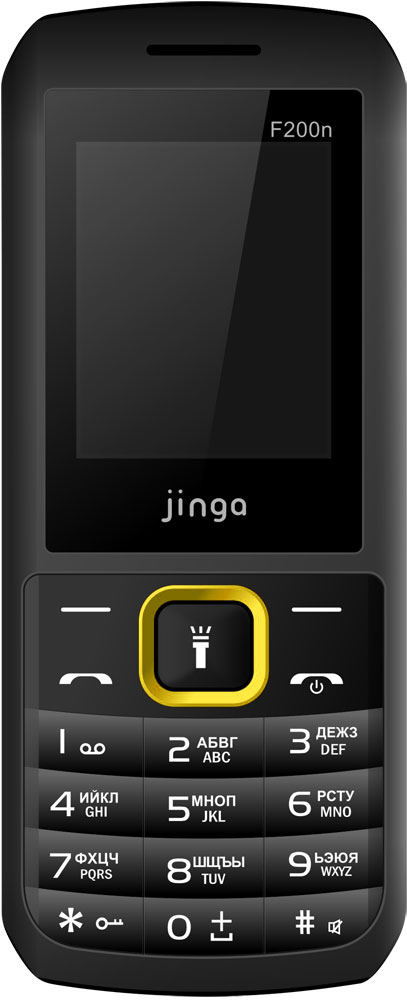 Мобильный телефон Jinga Simple F200n Dual sim Black Yellow