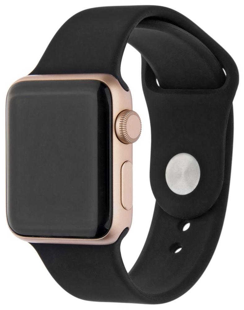 Ремешок для умных часов InterStep Sport Apple Watch 38/40мм силиконовый Black