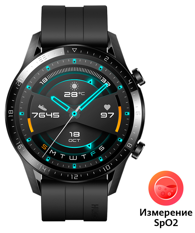 Часы Huawei Watch GT 2 Black (Latona-B19S) фото