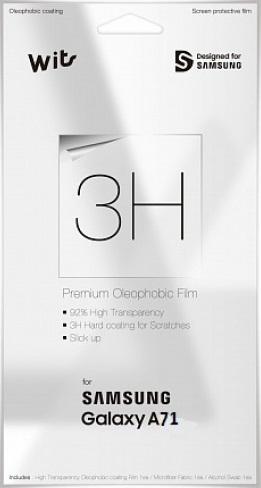 Пленка защитная WITS Samsung Galaxy A71 прозрачная фото