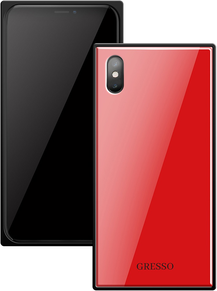 Клип-кейс Gresso Glass Apple iPhone X прямоугольный Red клип кейс gresso glass edge для apple iphone xr гуайра