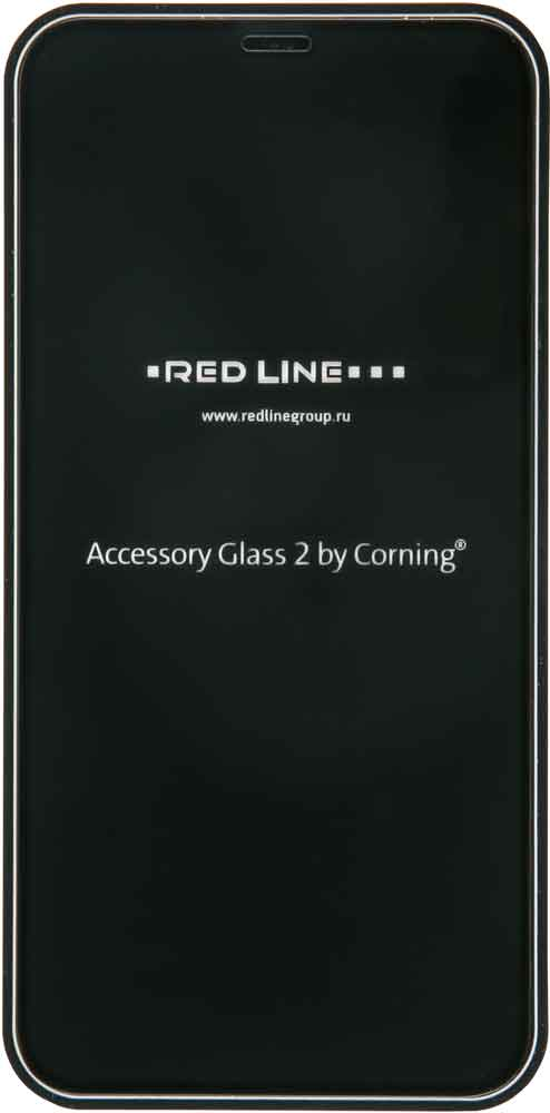 Стекло защитное RedLine Corning iPhone XS 0.2 мм черная рамка стекло защитное ubear iphone xr 0 2 мм черная рамка