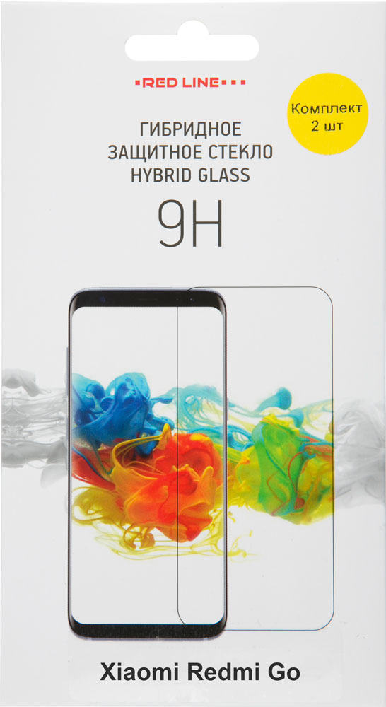Стекло защитное RedLine Xiaomi Redmi Go Hybrid прозрачная 2 шт
