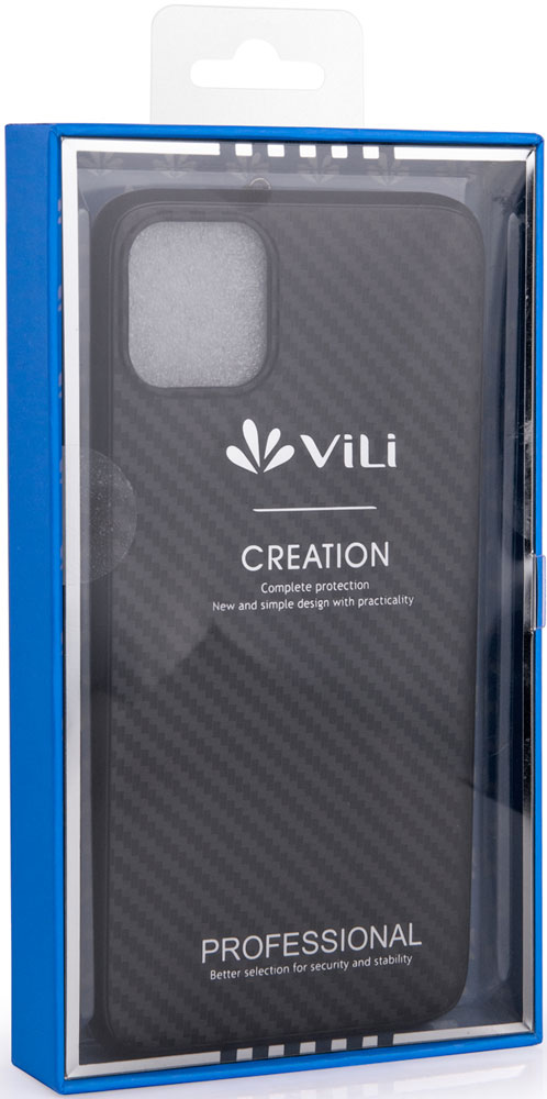 Клип-кейс Vili iPhone 11 Pro Max пластик карбон Black фото