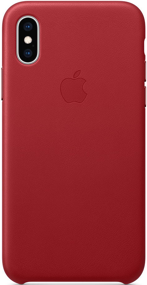Клип-кейс Apple iPhone XS кожаный MRWK2ZM/A Red
