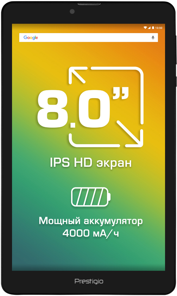 Планшет Prestigio Muze 8 16Gb 3G Black планшет prestigio muze 3708 16gb 3g black