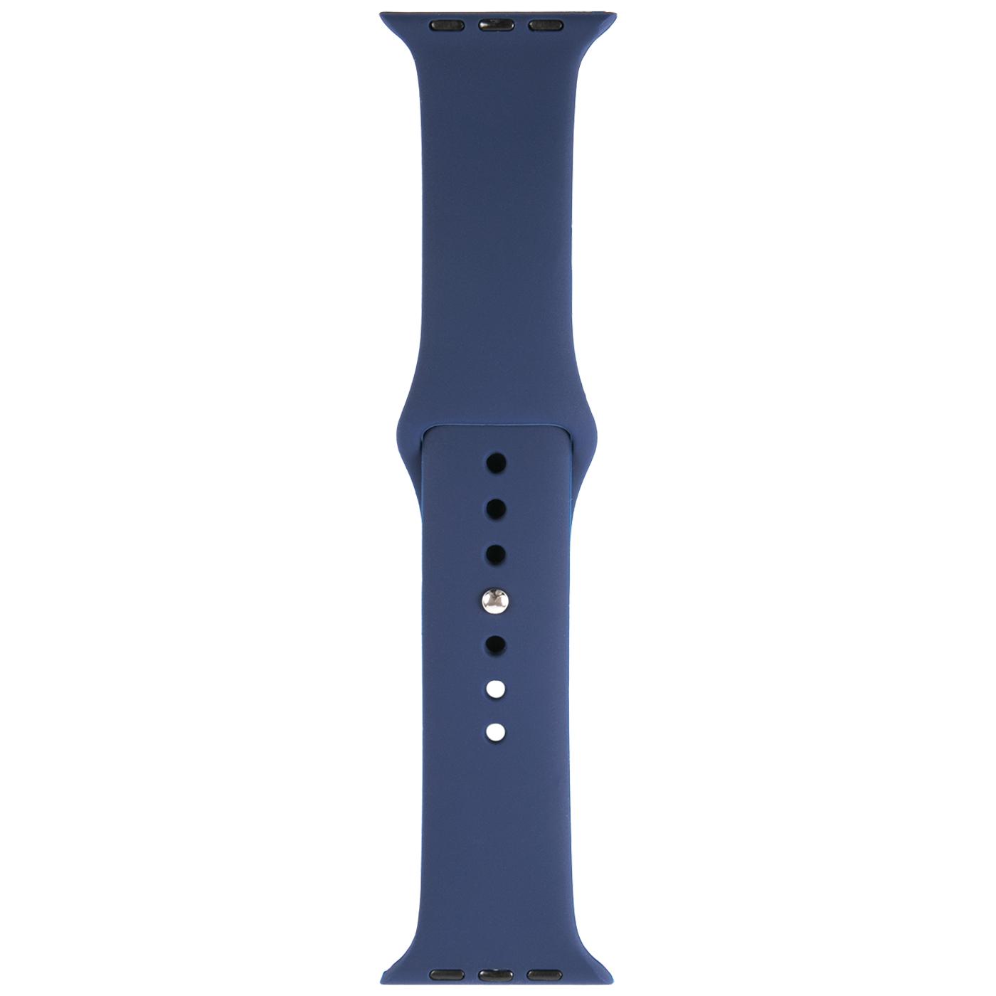 Ремешок для умных часов RedLine Apple Watch 42/44мм силиконовый Blue