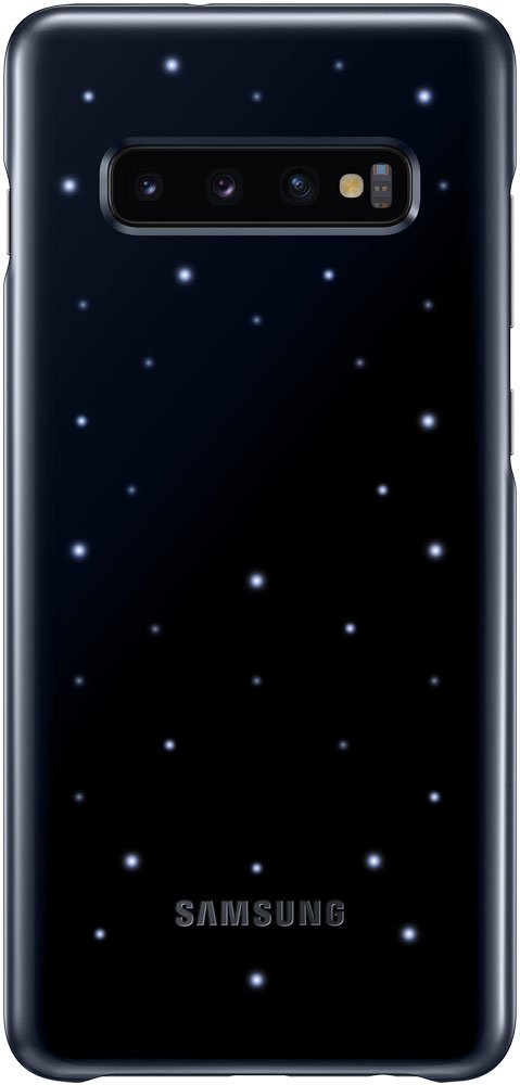 Клип-кейс Samsung Galaxy S10 Plus LED EF-KG975C Black клип кейс uniq samsung galaxy s10 plus black