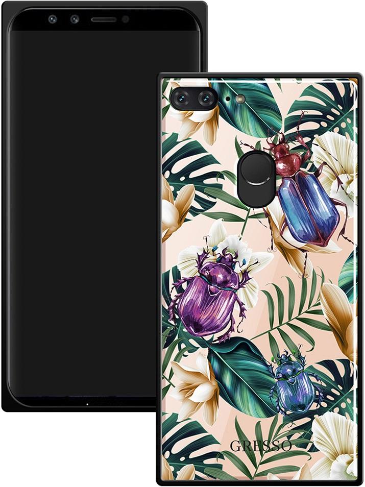 все цены на Клип-кейс Gresso Glass Huawei Honor 9 Lite прямоугольный жуки