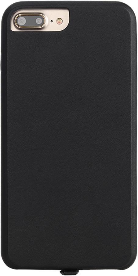 Чехол Vili для беспроводной зарядки iPhone 6Plus/6sPlus/7Plus искуственная кожа Black