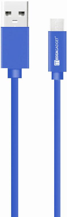 Дата-кабель MediaGadget MU-001 USB-microUSB 1,2м Blue фото
