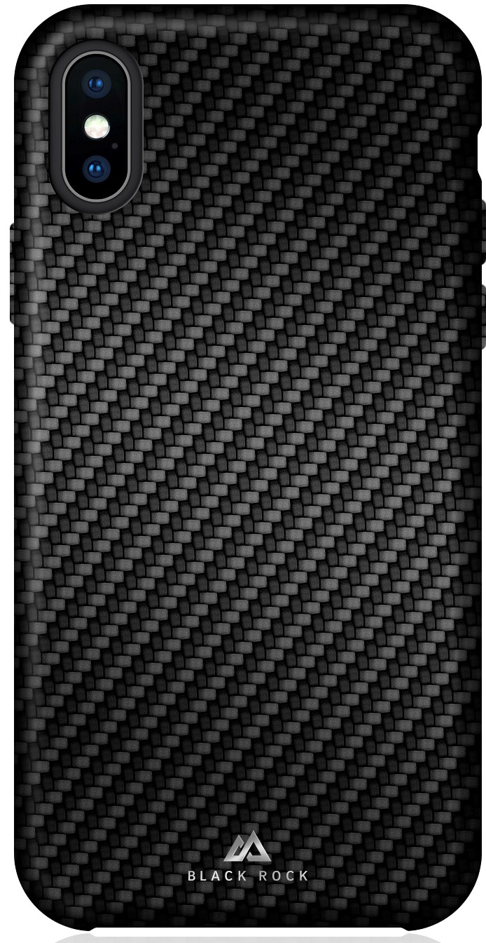 Клип-кейс Black Rock для Apple iPhone X карбон black клип кейс black rock apple iphone 8 7 6 6s real carbon black