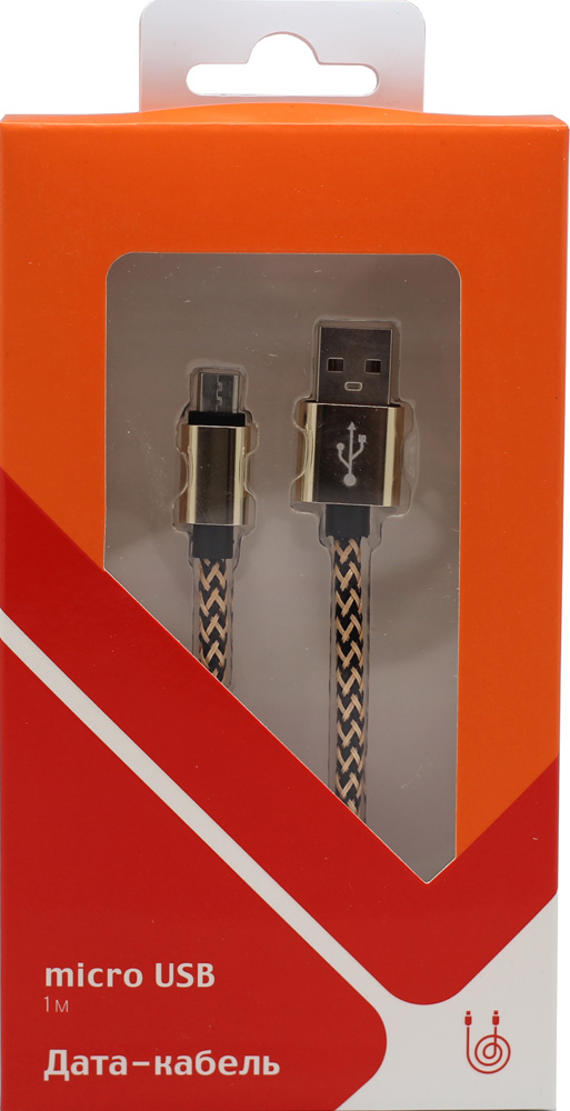 Дата-кабель СТМ USB - micro USB 2.0 SPT Gold Black