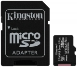 фото Карта памяти MicroSDHC Kingston Canvas Select Plus 256Gb Class10 с адаптером Black