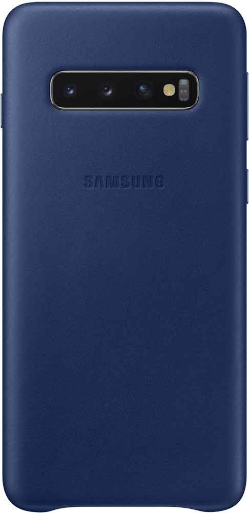 Клип-кейс Samsung Galaxy S10 EF-VG973L кожа Navy клип кейс samsung galaxy s10 led ef kg973c black
