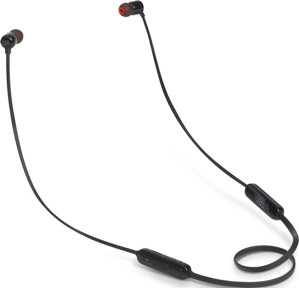 лучшая цена Беспроводные наушники с микрофоном JBL T110BT беспроводные Black