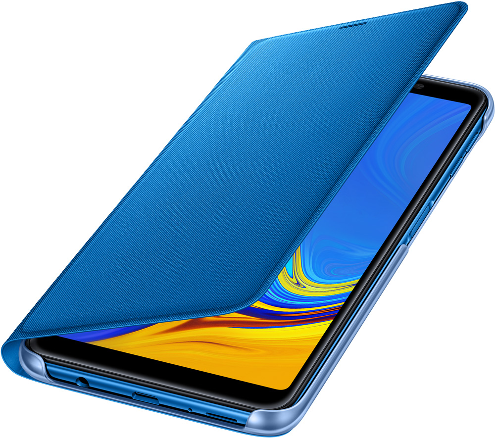 Чехол-книжка Samsung Galaxy A7 2018 EF-WA750PLEGRU Blue samsung чехол книжка samsung для samsung galaxy a7 2017 полиуретан золотистый