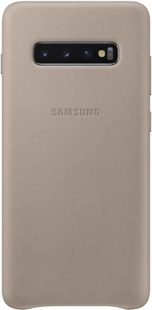 Клип-кейс Samsung Galaxy S10 Plus EF-VG975L кожа Grey