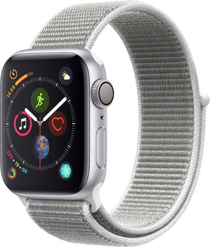 Часы Apple Watch Series 4 40 мм серебряный + ремешок серебряный (MU652RU/A) цена