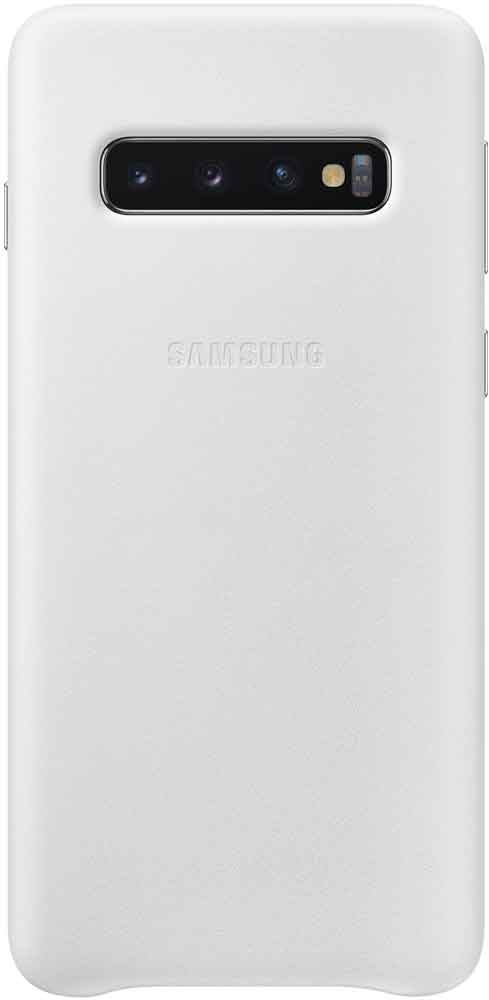 Клип-кейс Samsung Galaxy S10 EF-VG973L кожа White клип кейс samsung galaxy s10 led ef kg973c black