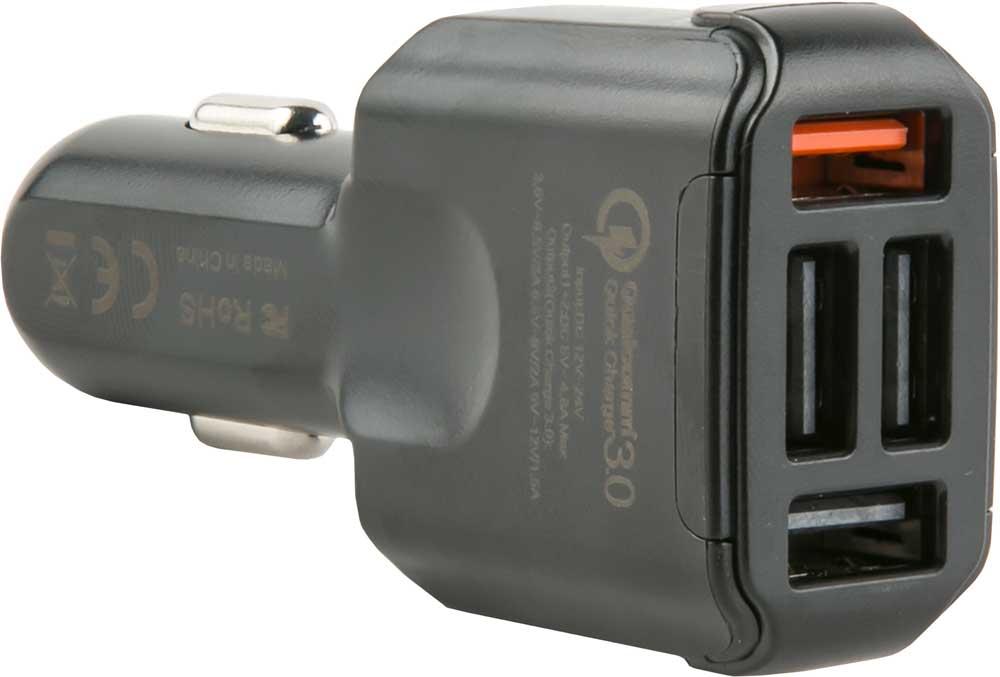 АЗУ RedLine AC4-30 4 USB 3.0 4,8А Quick Charge Black фото