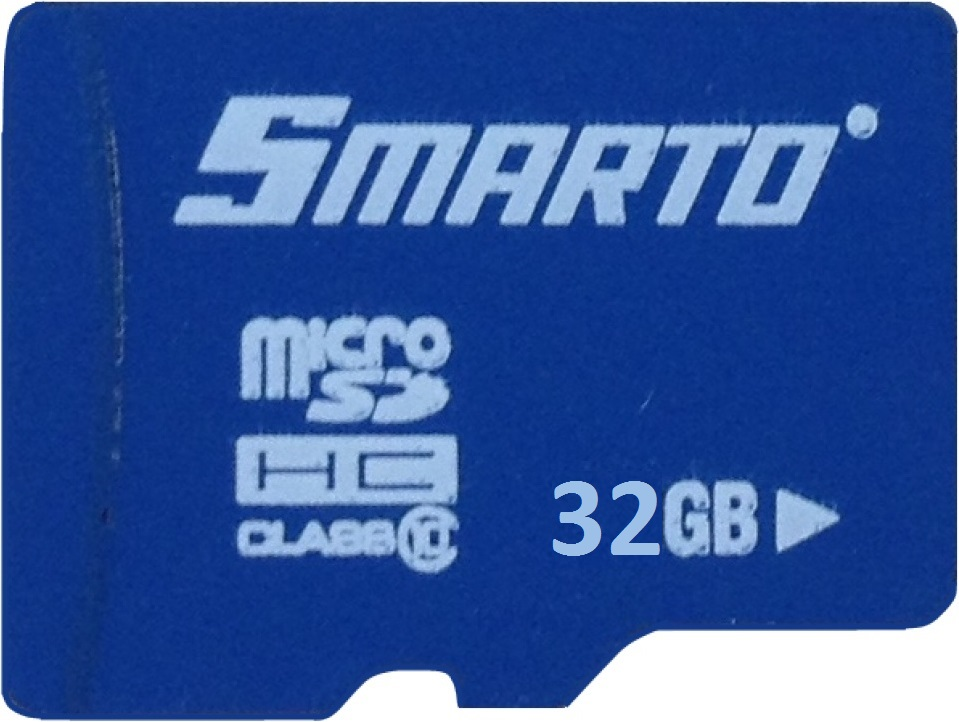 Карта памяти MicroSDHC Smarto 32Gb Class10 без адаптера Blue