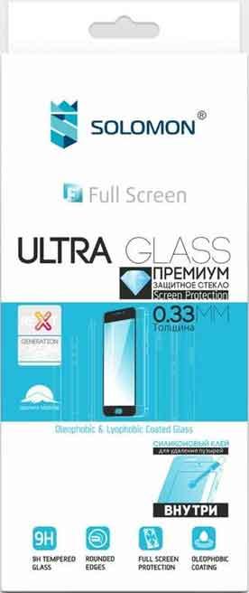 Стекло защитное Solomon Honor 8A Full Screen Full Glue черная рамка цена и фото
