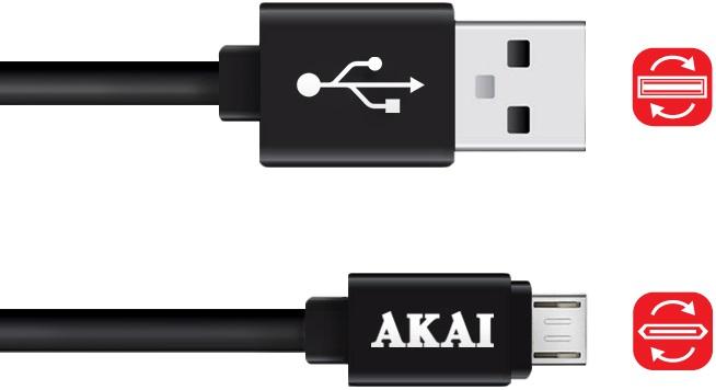 Дата-кабель Akai CE-410 USB-micro USB двусторонний Black akai pro apc 40 ii usb