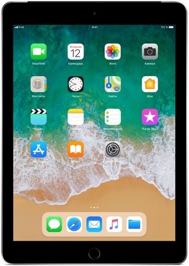 "Планшет Apple iPad 2018 9.7"" 32Gb Wi-Fi Grey (MR7F2RU/A)"