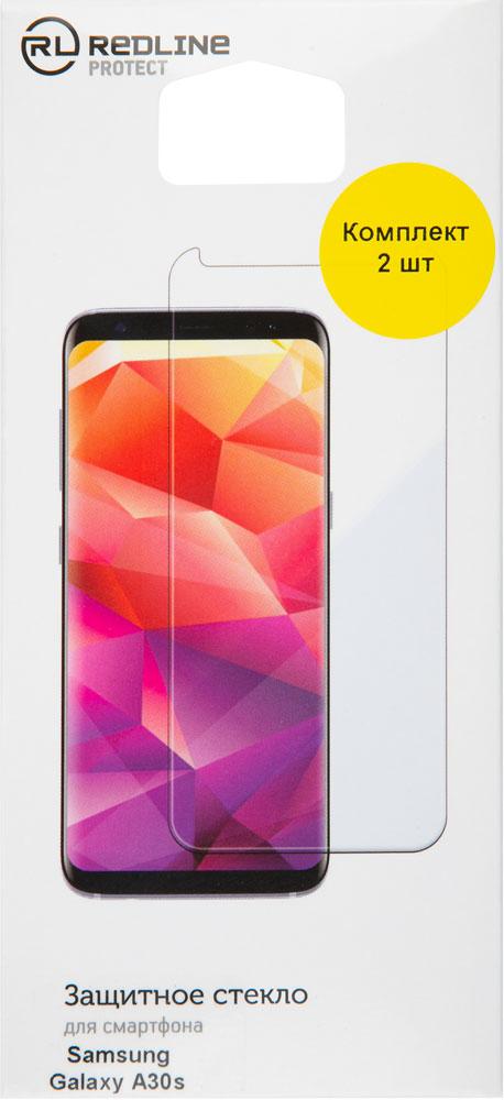Стекло защитное RedLine Samsung Galaxy A30s прозрачное 2 шт фото