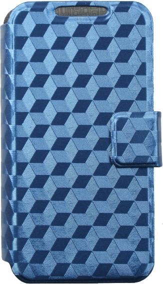 цена на Чехол-книжка OxyFashion SlideUP Cube универсальный размер M 4,3-5,5 blue