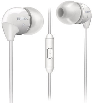 Наушники с микрофоном Philips SHE3515WT/00 White