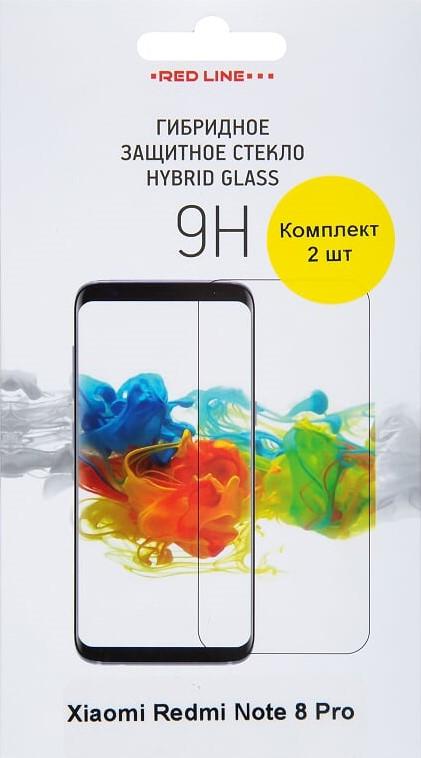 Пленка защитная RedLine, Xiaomi Redmi Note 8 Pro Hybrid прозрачная 2 шт, пленка защитная, 0317-2666  - купить со скидкой