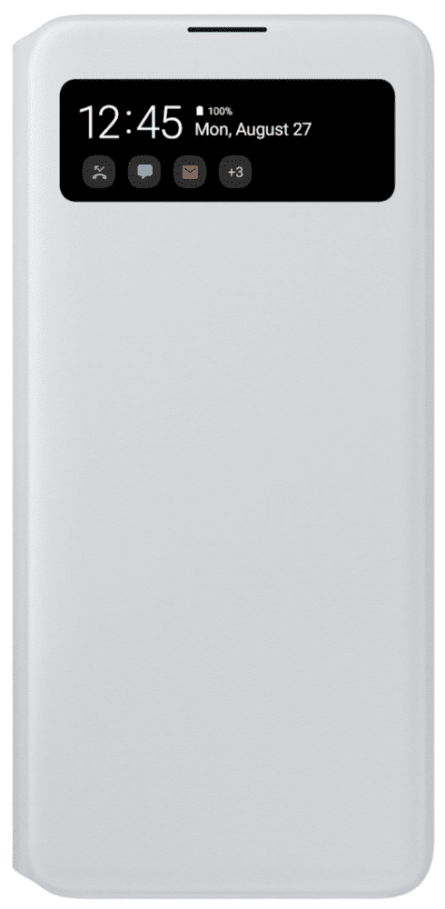 Чехол-книжка Samsung A71 S View Wallet Cover White (EF-EA715PWEGRU) фото