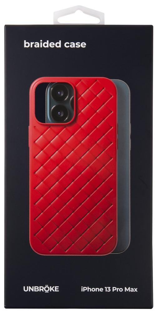 Клип-кейс UNBROKE iPhone 13 Pro Max Braided Red